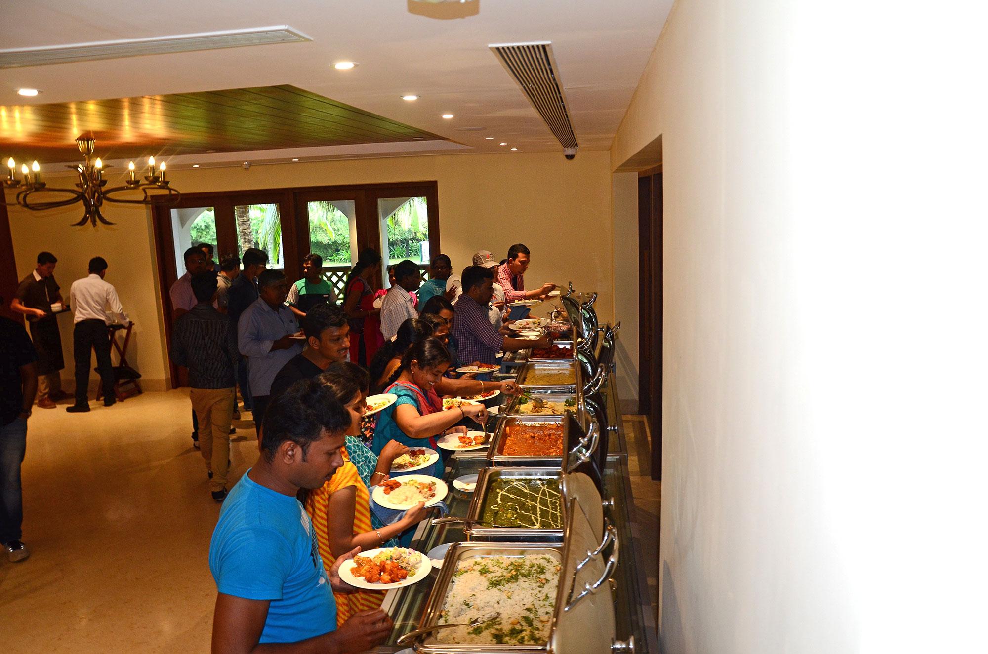 capestars at buffet lunch